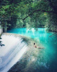 Turquoise jungle tones Badian Philippines. Photo by @everchanginghorizon @jess.wandering