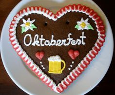 Oktoberfest Heart with Beerstein Extra Large by SayitwithHeart, $21.95
