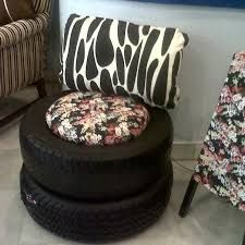 helping the planet Tire Seats, Tire Chairs, Tire Furniture, Diy Furniture Decor, Tire Table, Tire Ottoman, Tire Craft, Diy Stool, Cd Crafts