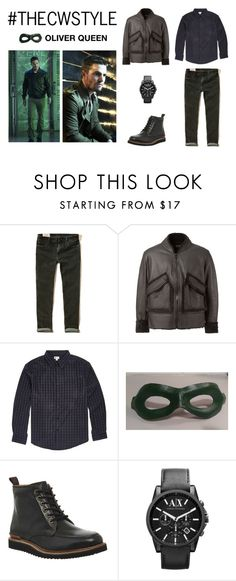 """""""#THECWSTYLE: Oliver Queen"""" by amlhrs ❤ liked on Polyvore featuring Hollister Co., adidas Originals, Villain, Rockport, Armani Exchange, women's clothing, women's fashion, women, female and woman"""
