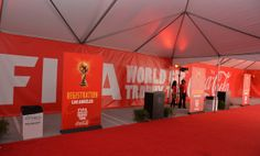 A general view of atmosphere at the FIFA World Cup Trophy Tour By Coca-Cola at L.A. Live on April 19, 2014 in Los Angeles, California.