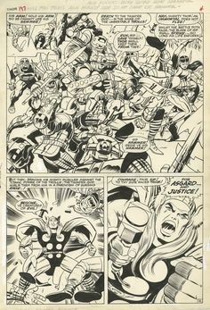 page from The Mighty Thor # 137 by the great Jack The King Kirby. Comic Book Pages, Comic Book Artists, Comic Artist, Comic Books Art, Planet Terror, Jack Kirby Art, Comic Book Collection, The Mighty Thor, Steve Ditko