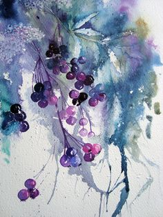 Watercolour Florals: More Daniel Smith Colours Watercolor And Ink, Watercolour Painting, Watercolor Flowers, Painting & Drawing, Watercolours, Watercolour Techniques, Art Floral, Art Et Illustration, Painting Inspiration
