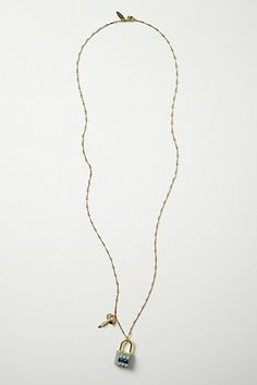 Lock & Key Necklace #anthropologie i have to make this-it looks like a real lock n key with some crystals...