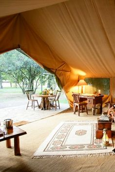 View from a luxury tent in Kenya