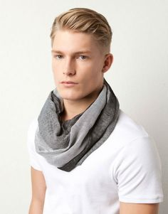 The man who loses his infinity scarf isn't wearing it!