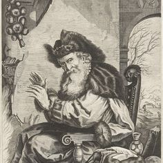 Januari, anonymous, after Jeremias Falck, Joachim von Sandrart, 1661 - 1726 - Rijksmuseum