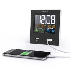 Digoo Time Calendar Format Switchable Temperature Humidity Display Dual Alarms Snooze Function NAP LED Backlight Alarm Clock with 2 USB at Banggood Led Alarm Clock, Travel Alarm Clock, Digital Alarm Clock, 3d Wall Clock, Temperature And Humidity, Digital Wall, Bars For Home, Party Supplies, Usb