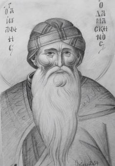 Sketch of St.John Damasceno