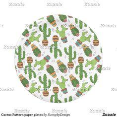 Cactus Pattern paper plates