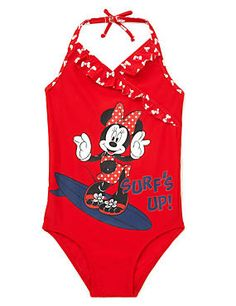 Red Mix Chlorine Resistant Minnie Mouse Lycra® Xtra Life™ Swimsuit (1-7 Years)  .marksandspencer.com