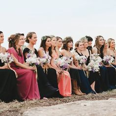Mix-and-Match Bridesmaids Accessories Simple Flower Crown, White Flower Crown, Bridesmaid Accessories, Bridesmaid Dresses, Wedding Dresses, Bridesmaids, Wedding Looks, Bridal Looks, Bridal Hairdo