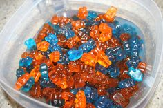 orange and blue bears