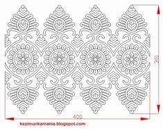 írásos párna minta A mintát Kristó Rozália párnájáról rajzoltam AutoCad-ben Hungarian Embroidery, Folk Embroidery, Learn Embroidery, Embroidery Stitches, Embroidery Patterns, Knitting Patterns, Chain Stitch, Cross Stitch, Soutache Pattern
