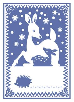 Doe Fawn and Hedgehog with Holly Digital Art by Alice Turner - Doe Fawn and Hedgehog with Holly Fine Art Prints and Posters for Sale Paper Cutting, Cut Paper, Kirigami, Christmas Animals, Christmas Art, Paper Lampshade, Traditional Japanese Art, Sale Poster, Holidays And Events