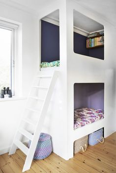 Space Saving Furniture for small rooms Space Saving Furniture, Smart Furniture, Small Rooms, Small Spaces, Built In Bed, Bedroom Inspo, Kids And Parenting, Bunk Beds, Baby Room