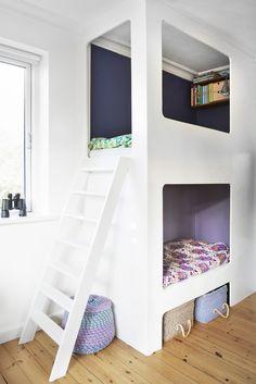 La deg inspirere av hjemmesnekrede senger, delikate farger og smarte triks.