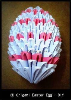 3D Origami Easter Egg – Tutorial / Art Platter