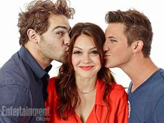 Grey Damon, Aimee Teegarden, and Matt Lanter, Star-Crossed