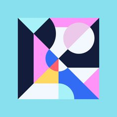 Kaleidoscopic Artworks by Bram Vanhaeren - Inspiration Grid Geometric Graphic Design, Geometric Shapes Art, Grid Design, Design Art, Composition Design, Shape Art, Color Studies, Collages, Abstract Art