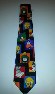 LOONEY TUNES BUGS BUNNY TWEETY BIRD DAFFY DUCK MENS COLORFUL NECKTIE  #LooneyTunes