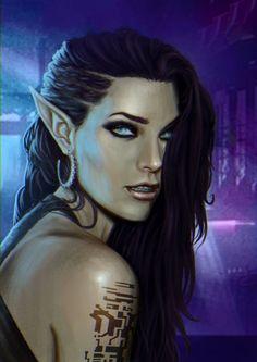 Shadowrun Elf Portrait by ARTTAiR.deviantart.com on @DeviantArt