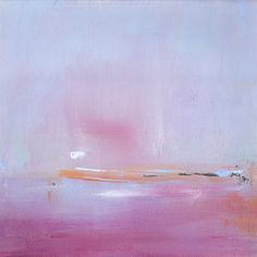Cranberry Bog Painting, Landscape Painting, Fog, Mist, Fall Harvest Painting, 12x12 -original fine art - West Elm artist, red, Rustic Decor