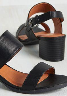 A Necessary Sequel Sandal in Black | Mod Retro Vintage Sandals | ModCloth.com