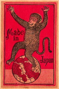 """Mabe"" in Japan  Japanese matchbox label, 1910"