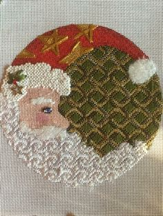love love this....no cap embellishment stars...just plain red...This says:  #needlepoint