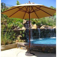 Galtech 9 ft. Suncrylic Double Pulley Patio Umbrella - 132-20