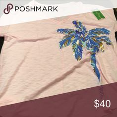 Lilly Pulitzer colie pink top size M NWT. Pink with palm tree Lilly Pulitzer Tops Tees - Short Sleeve