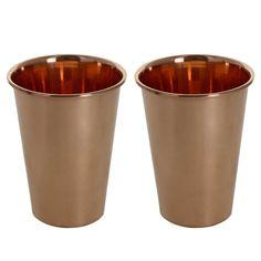 Amazon.com | Ayurveda Healing Drinkware Copper Tumbler Glasses Set of 2: Tumblers