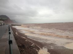 Sidmouth in a storm