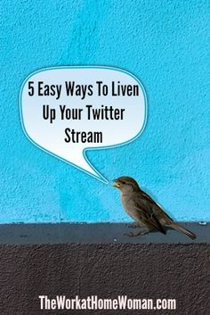 5 Easy Ways To Liven Up Your Twitter Stream | The Work at Home Woman
