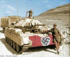 Crusader II tank in german service Afrika Korps German Soldiers Ww2, German Army, Ww2 Photos, Photos Du, Crusader Tank, Luftwaffe, Afrika Corps, North African Campaign, Military Armor
