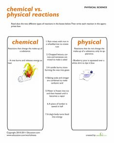 Worksheets: Science Review: Chemical Vs. Physical Properties
