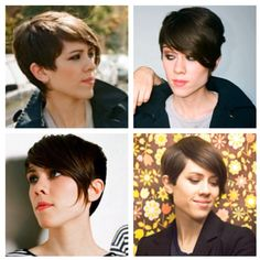 Sara from Tegan & Sara Hair cut I want! i like them all i have to choose i dont want to change