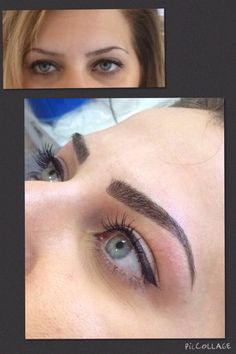Semi permanent makeup eyebrows kent More Source by Semi Permanent Eyeliner, Permanent Makeup Eyebrows, No Eyeliner Makeup, Eyeliner Tattoo, Makeup Tattoos, Brow Tattoo, Eyeliner Images, Eyebrow Design, Pigmentation