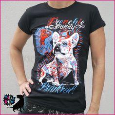 Women's T-shirt Frenchie Dandy, French bulldog by PSIAKREW on Etsy