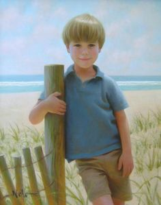 Brian Neher captures not only the exact likeness of the children but also the unique expressions of children's eyes and their personalities on canvas.