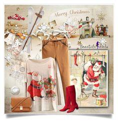 """Merry Christmas"" by ewa-naukowicz-wojcik ❤ liked on Polyvore featuring Forever 21, beautifulhalo and bhalo"