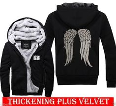 2014 THE WALKING DEAD Daryl Dixon GRAPHIC Sweater Hoodies Thickening Plus velvet #NO #Cardigan. WANT!!!!!!