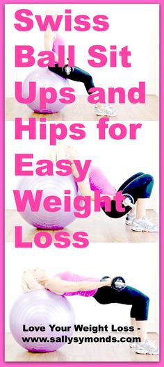 Swiss Ball Sit Ups and Hips for Easy Weight Loss
