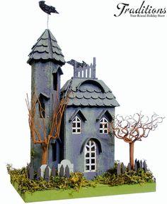 Halloween Putz House.