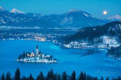 Lake Bled Eslovenia blue lake The Snow Moon by Phrasikleia Epoiesen on 500px