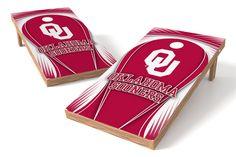 Oklahoma Sooners Cornhole Board Set - Drop http://prolinetailgating.com/