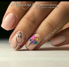 Nail Art For Your Birthday-Easy To Do YourselfIs your birthday coming back up? Well mine is, and that i started brooding about birthday party nails! Do people DO birthday nails? Nail Manicure, Toe Nails, Pink Nails, Nail Polish, Pedicure, Square Nail Designs, Nail Art Designs, Nails Design, Animal Nail Designs