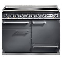 The Falcon 1092 Deluxe Slate Induction Electric Range Cooker is a cooker that combines stylish design with outstanding build quality and durability. The Falcon 1092 features five induction plates, roll-out grill, heavy duty oven shelves and con Electric Range Cookers, Electric Cooker, Electric Stove, Gas Stove Top, Cooking Supplies, Healthy Side Dishes, Different Recipes, Ovens, Interview