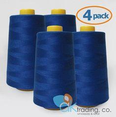 Brand New Spool JEANS STITCH 200 Yds ROYAL BLUE 100/% Spun  Polyester 180M